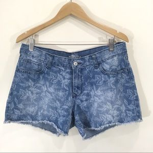 Old Navy Diva Floral Cut Off Jean Shorts Sz 12